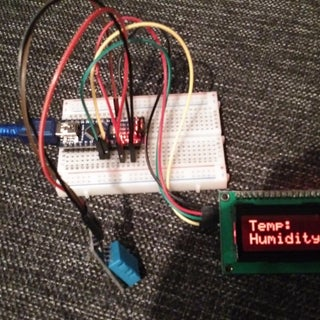 Arduino Nano: DHT11 Temperature and Humidity I2C 2 X 16 LCD Display With Visuino