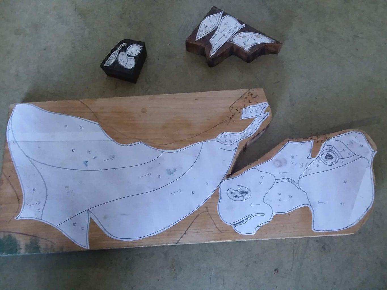 Glue Pattern to Wood