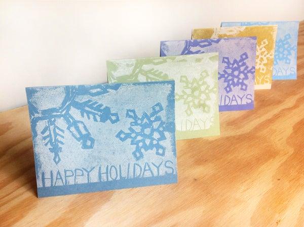 Linoleum Printed Greeting Cards
