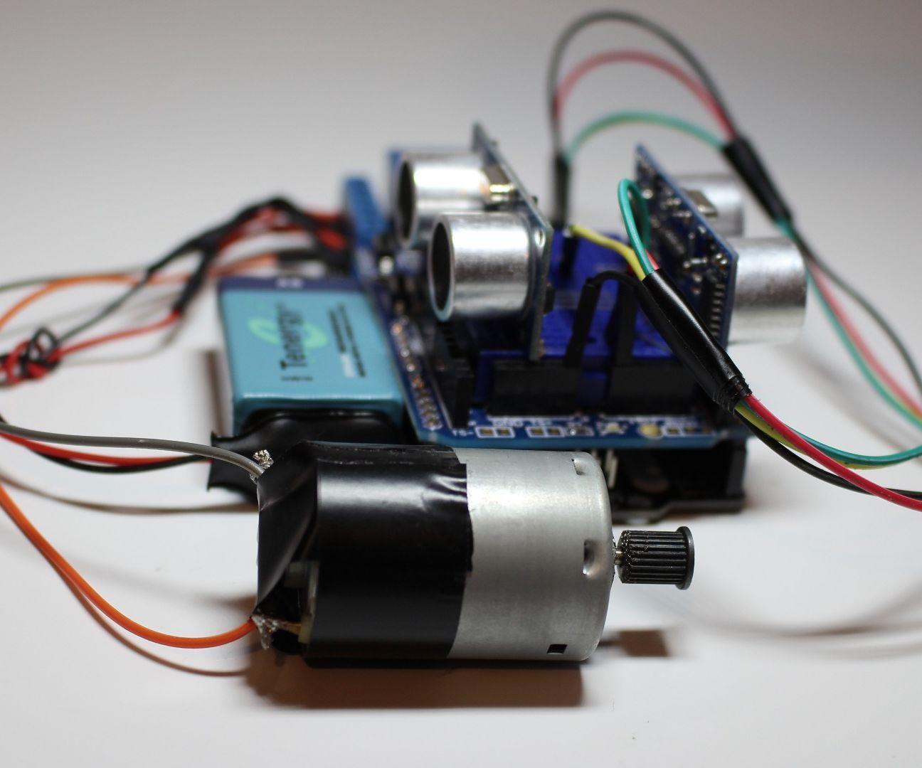 Control a Motor using Ultrasonic Distance Sensors (HC-SR04)