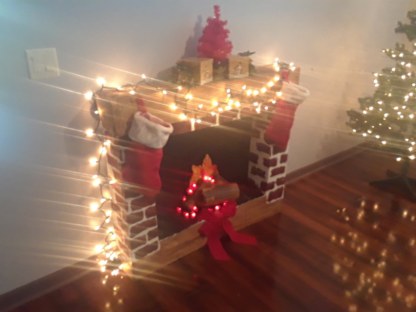 Christmas Faux Fireplace