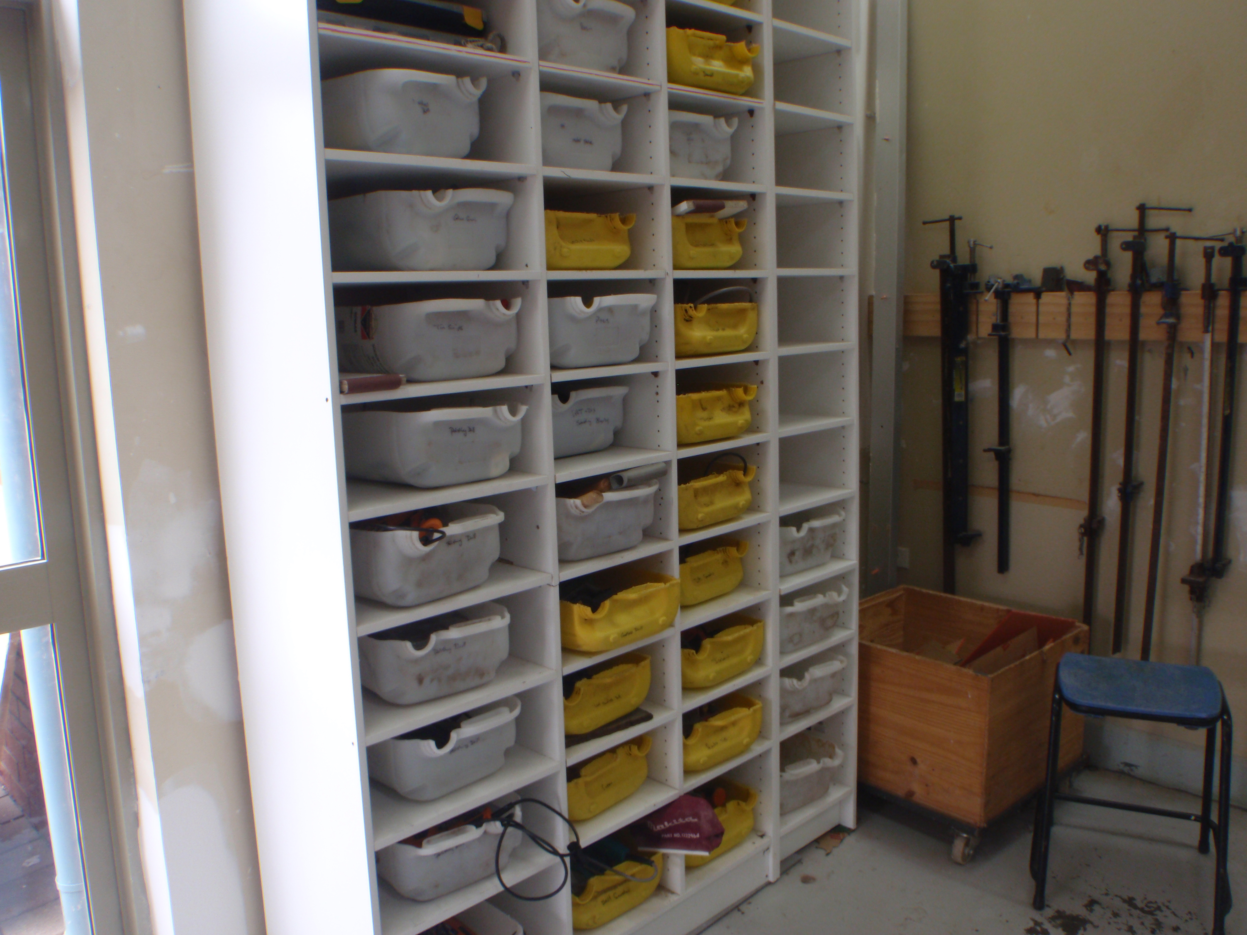 Recycled workshop organzier