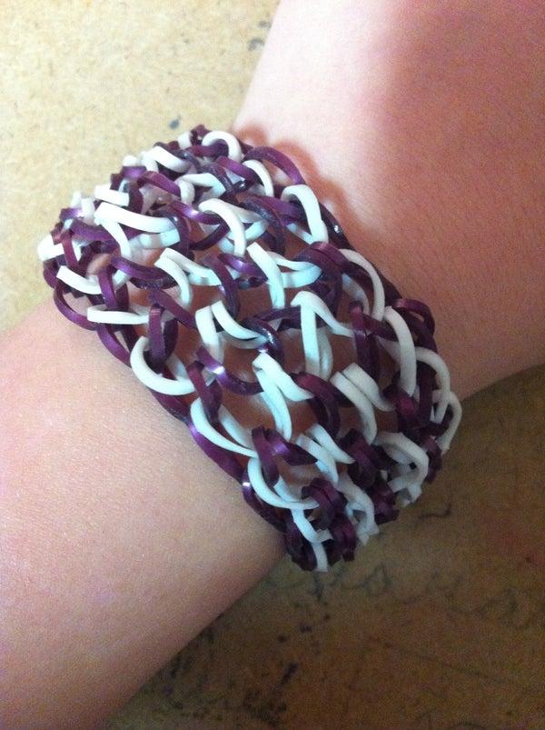 How to Make a Dragon Scale Loom Bracelet.