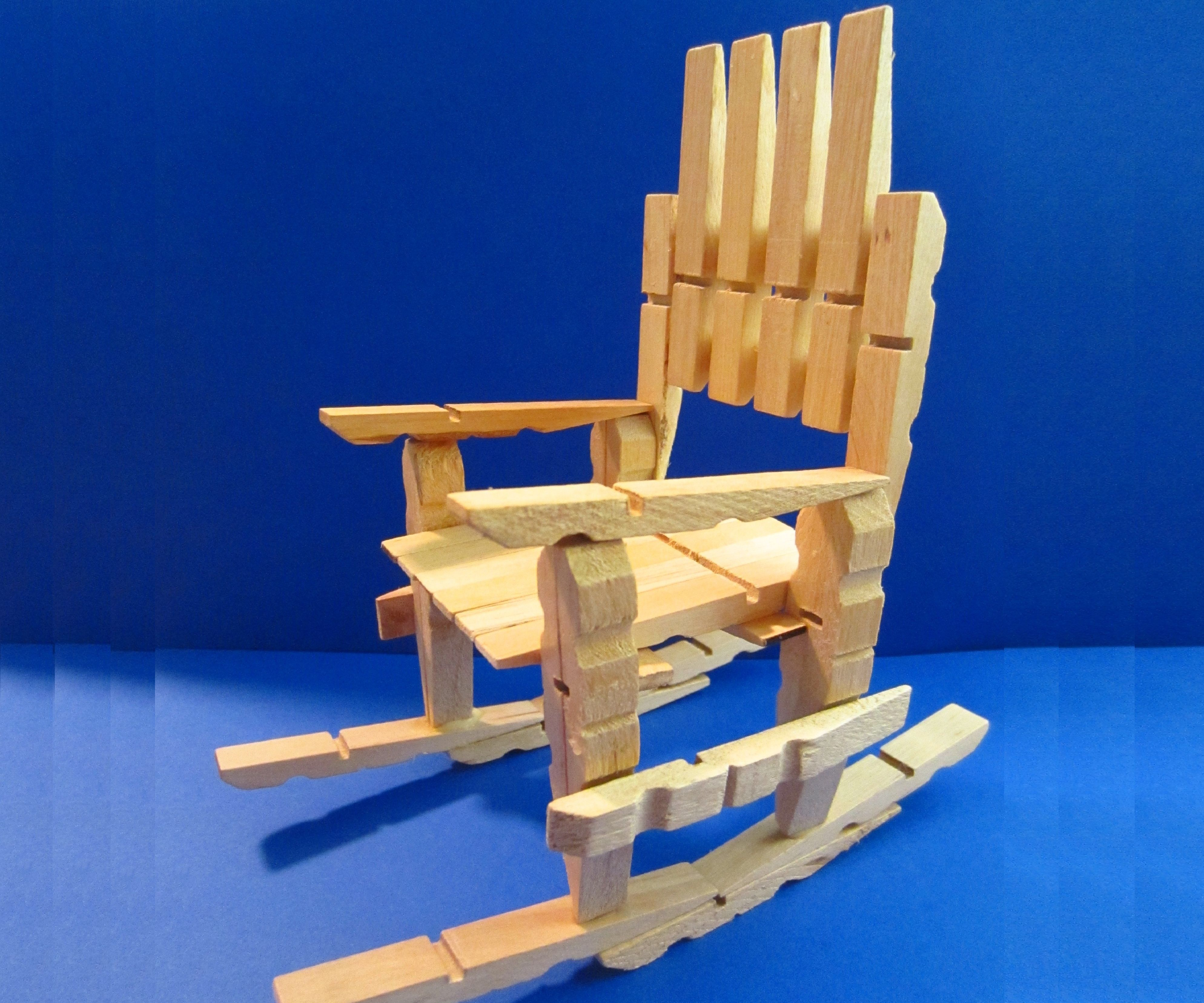 Clothespin Rocking Chair: So Easy to Make