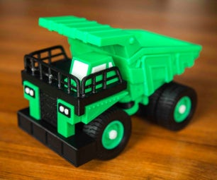 Caterpillar Heavy Truck 3D Printed and Assembled