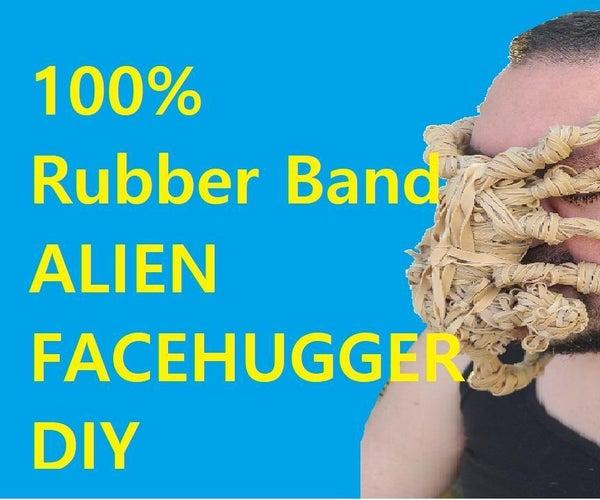 100% Rubber Band Alien Face Hugger