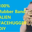 100% Rubber Band Alien Face Hugger