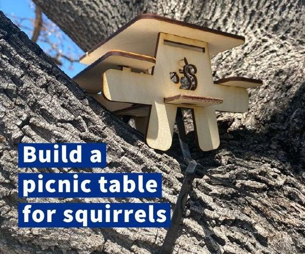 Laser Cut Squirrel Picnic Table