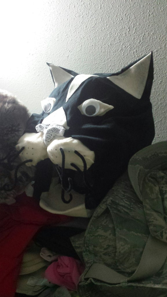 No Sew Cat Mascot Head