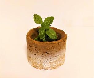 可持续+再生纸板碗(和植物盆!)