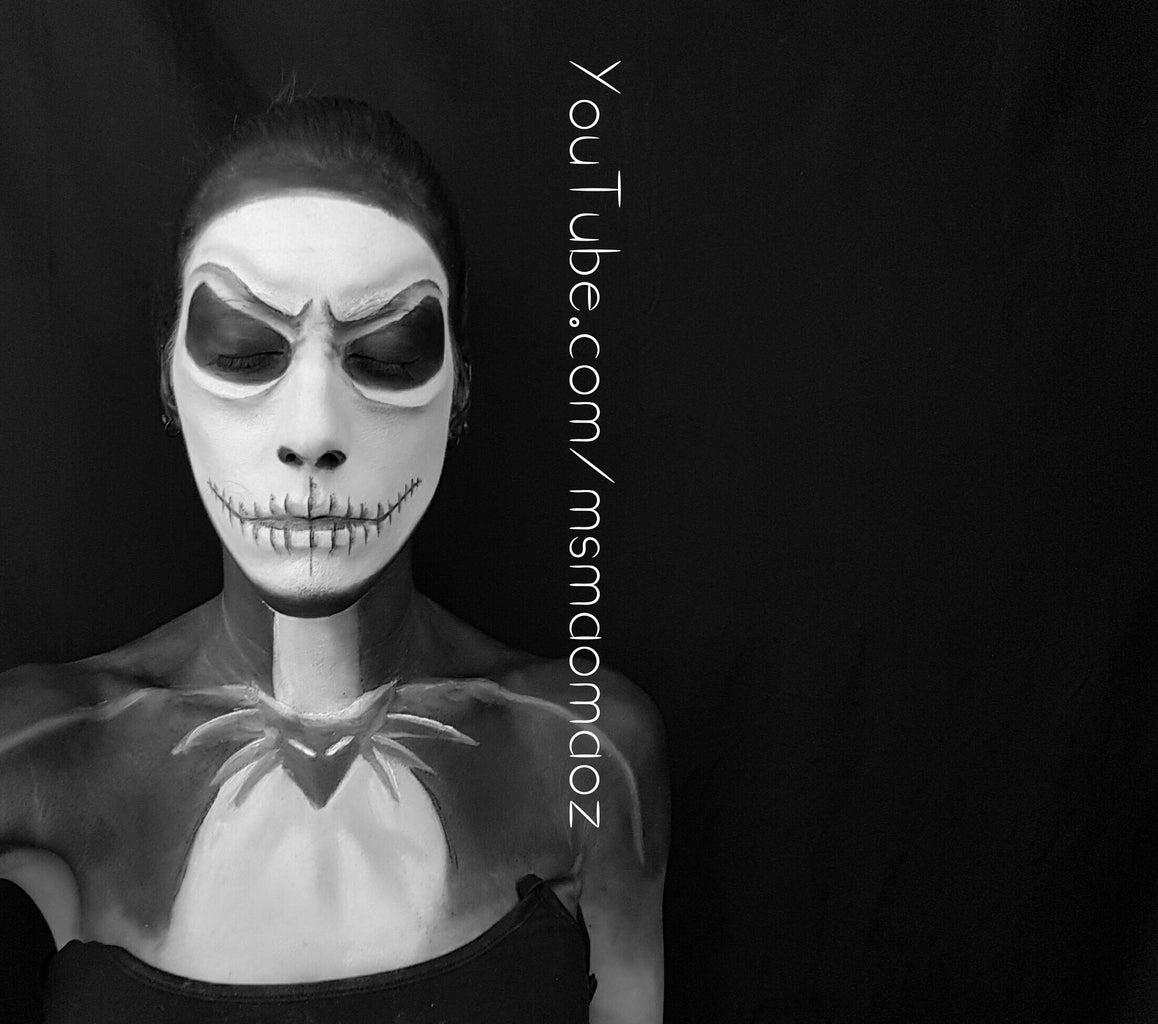 Jack Skellington Makeup Transformation