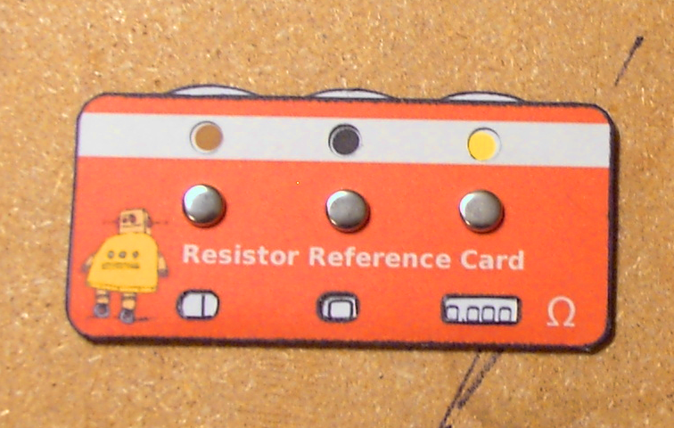 Make a Resistor Reference Card