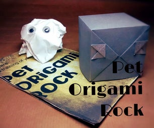 Pet Origami Rock and Manual