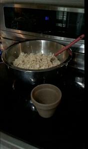 Put Mixture Into a Small Clay Pot