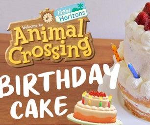 动物十字生日蛋糕
