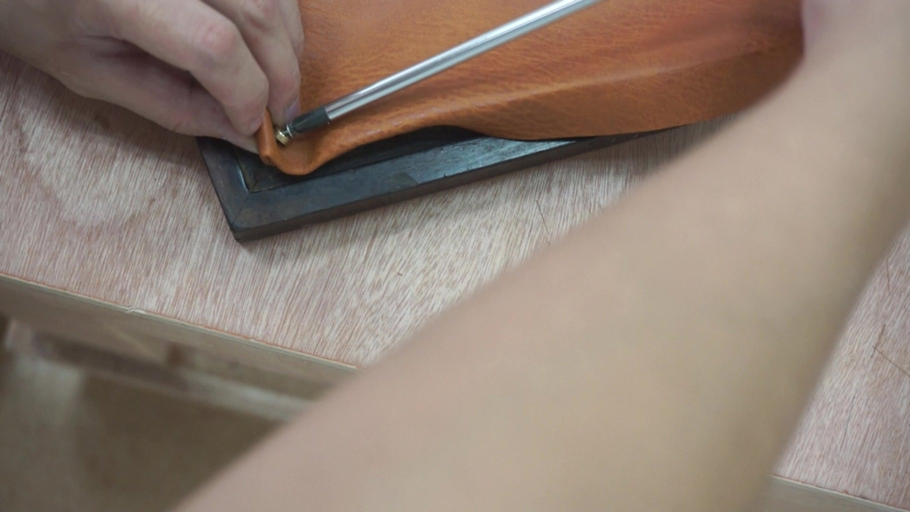 Cutting the Leather and Infill Foam