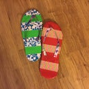 DIY Duct Tape Flip Flops
