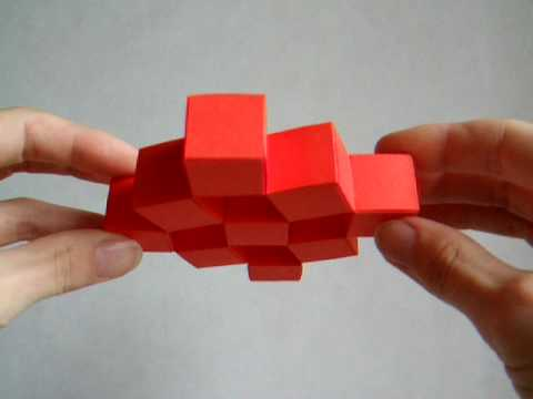 How to Make an Origami Sonobe Moving Cube!