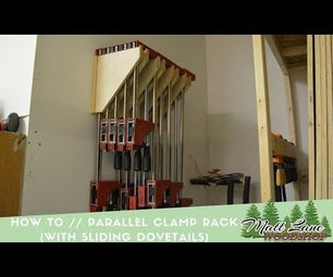 DIY Clamp Rack (with Sliding Dove Tails)