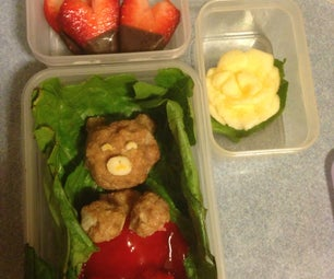 Super Cute Meatball With Sweet and Sour Sauce Lunch