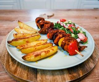 Pork Tenderloin Skewers With Potatoes
