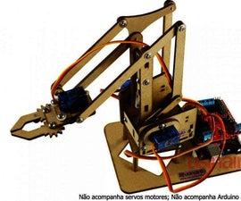 Braço Robô Controlado Por Giroscópio Via Celular