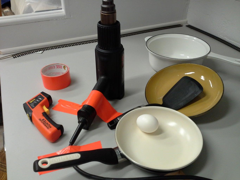 Heat Gun Egg Cooking