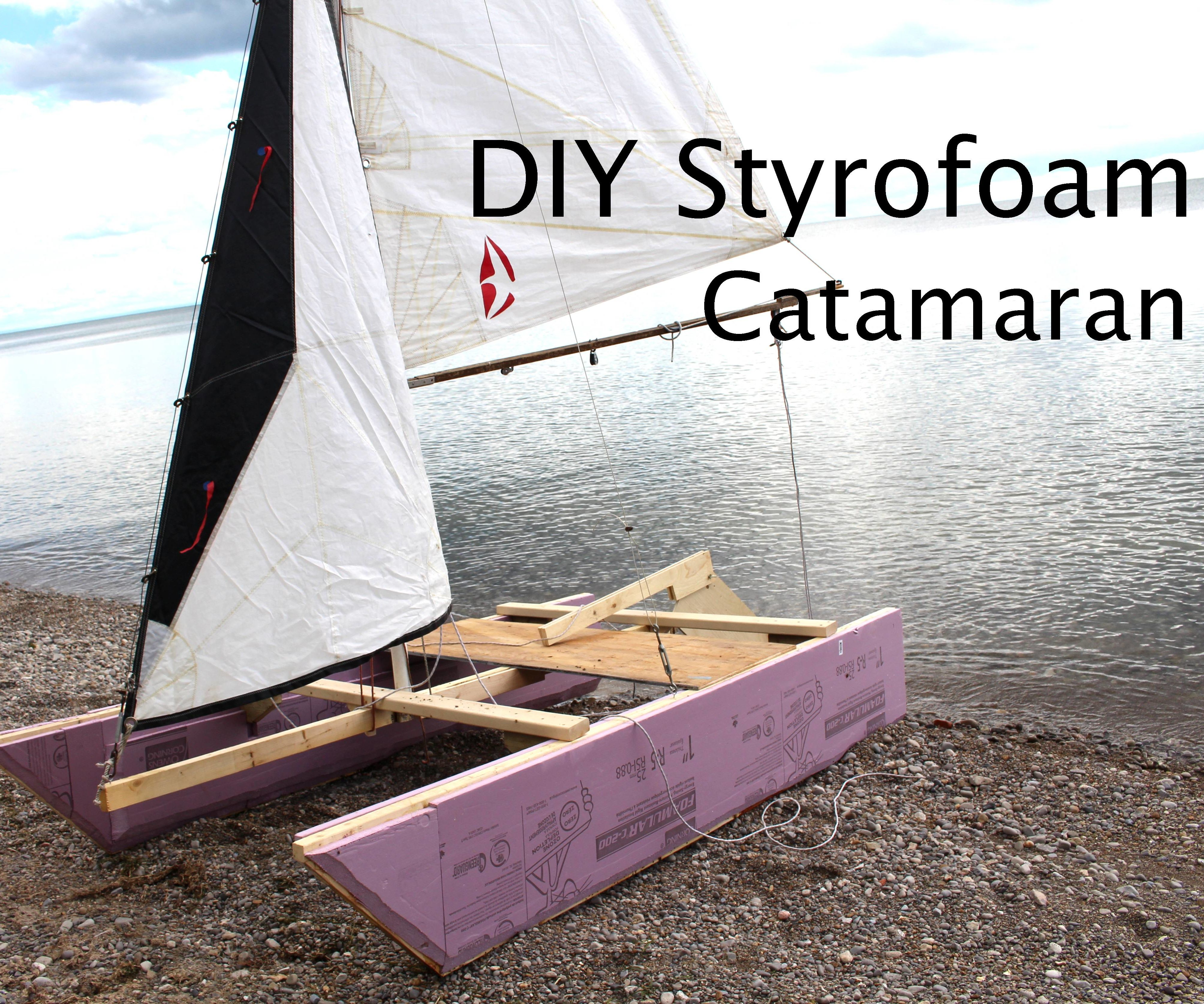DIY styrofoam catamaran