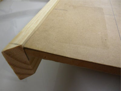 Fix the Side Lengths of Wood to the Display.