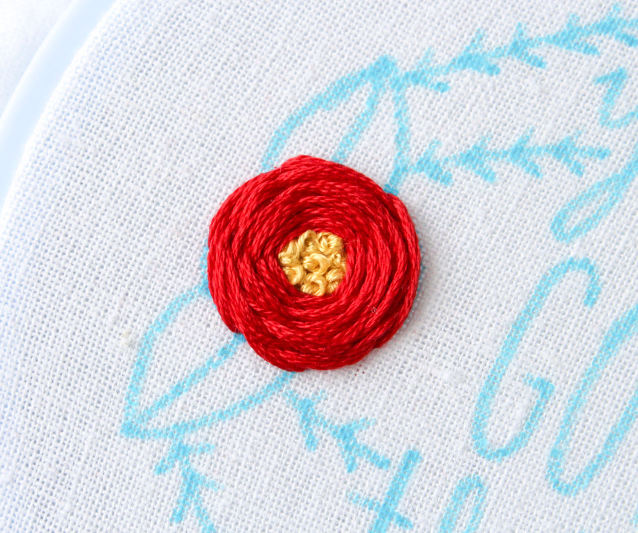 Embroidered Flowers With French Knot Centers 6 Steps With Pictures Instructables