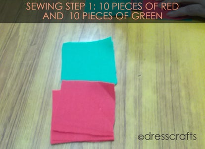 PLACEMATS SEWING STEP 1