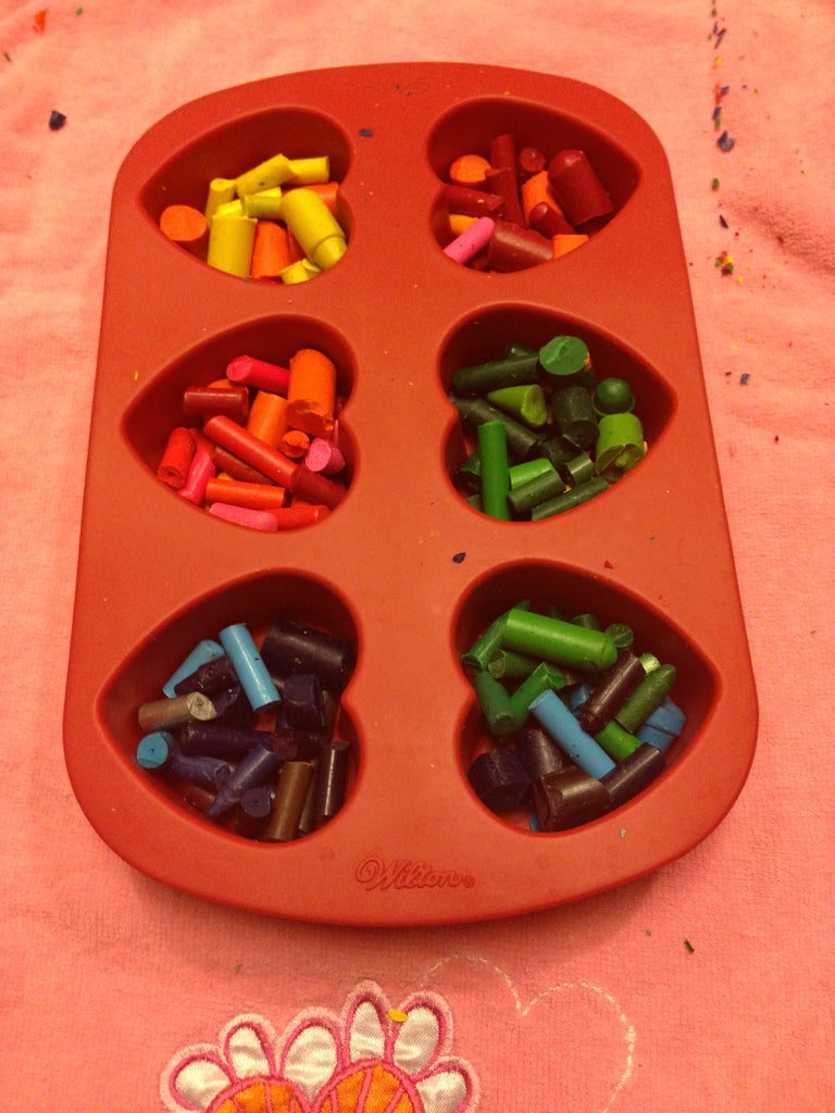 Divide the Crayons Into the Molds