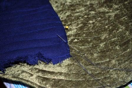 Slip Stitching Feathers to Finish