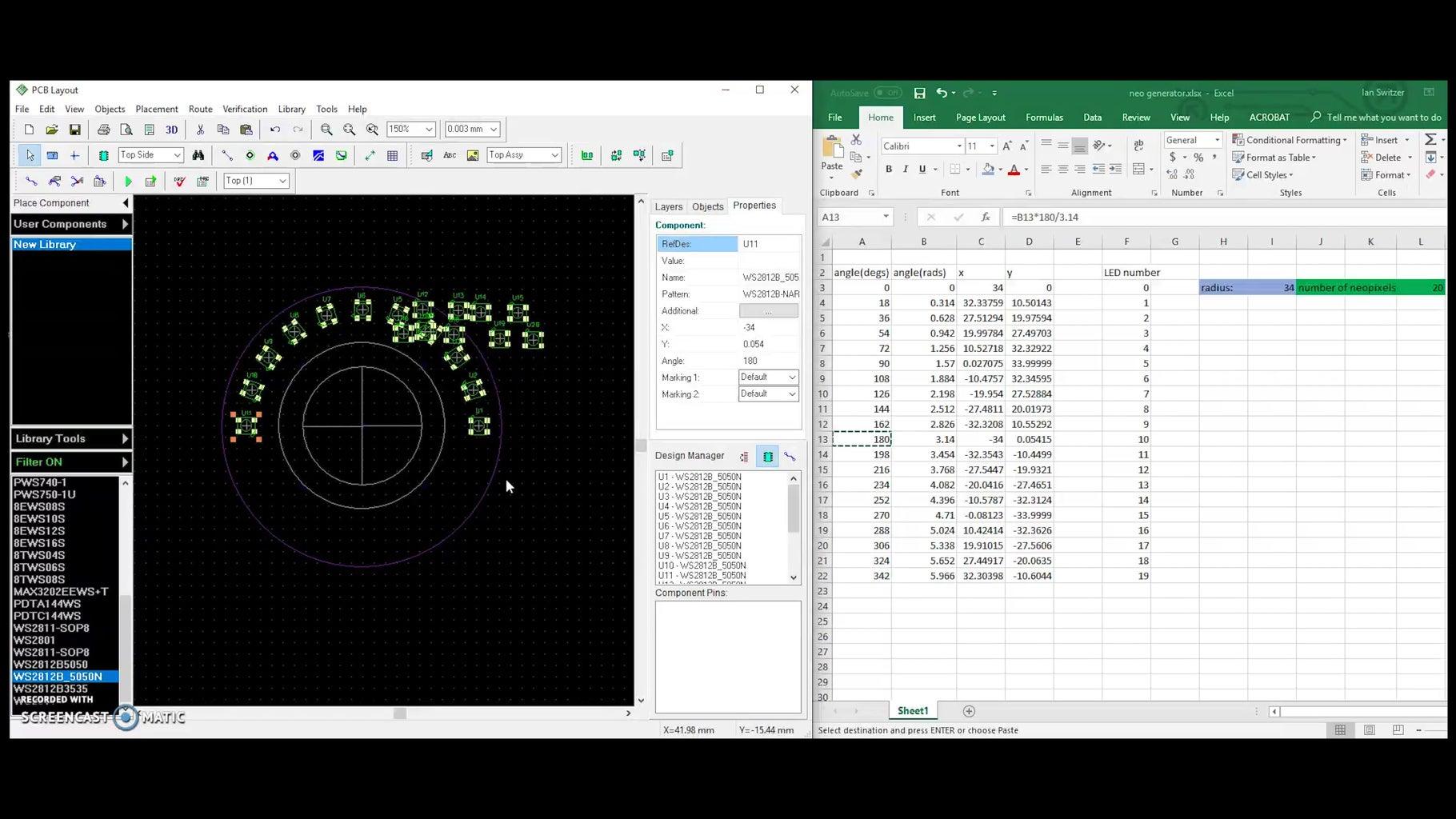 PCB Design Part One! LED Placement