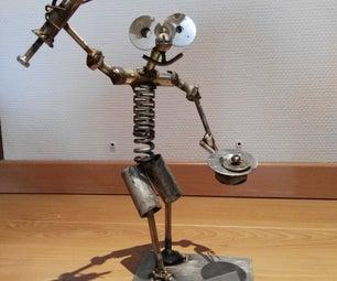 Metal Nurse Statue