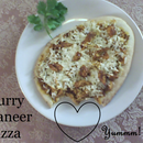 Simple Curry Paneer Pizza