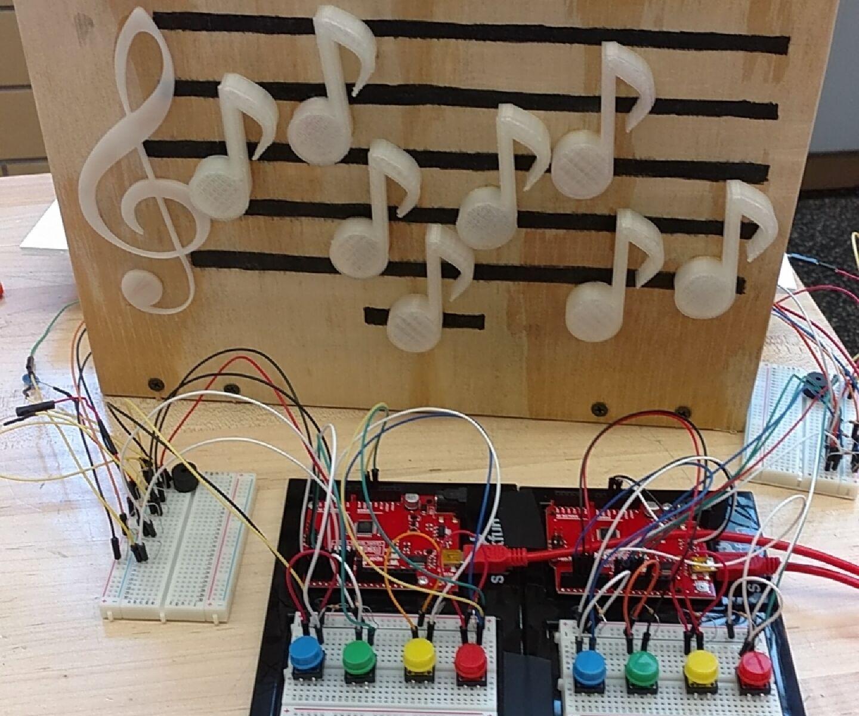 Arduino Light-Up Musical Staff