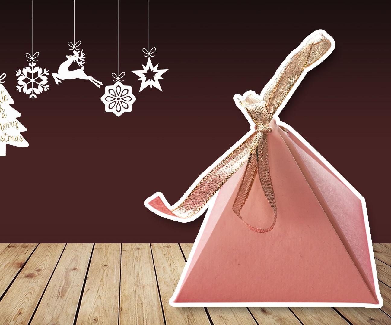 Origami Pyramid Box Tutorial ♥︎ DIY ♥︎ Cute Gift Box ♥︎   Christmas Gift Ideas!