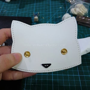 Now We Can Install 633 Snap Eyelet and Stud Together on Face, Also Sew Nose on Face.