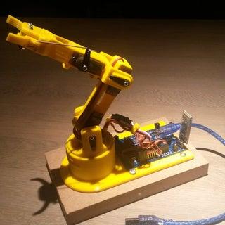 3D Printed, Bluetooth Controlled, Arduino Robot Arm - LittleArm 2C