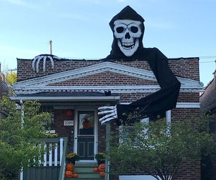 Giant Skeleton Halloween Decoration