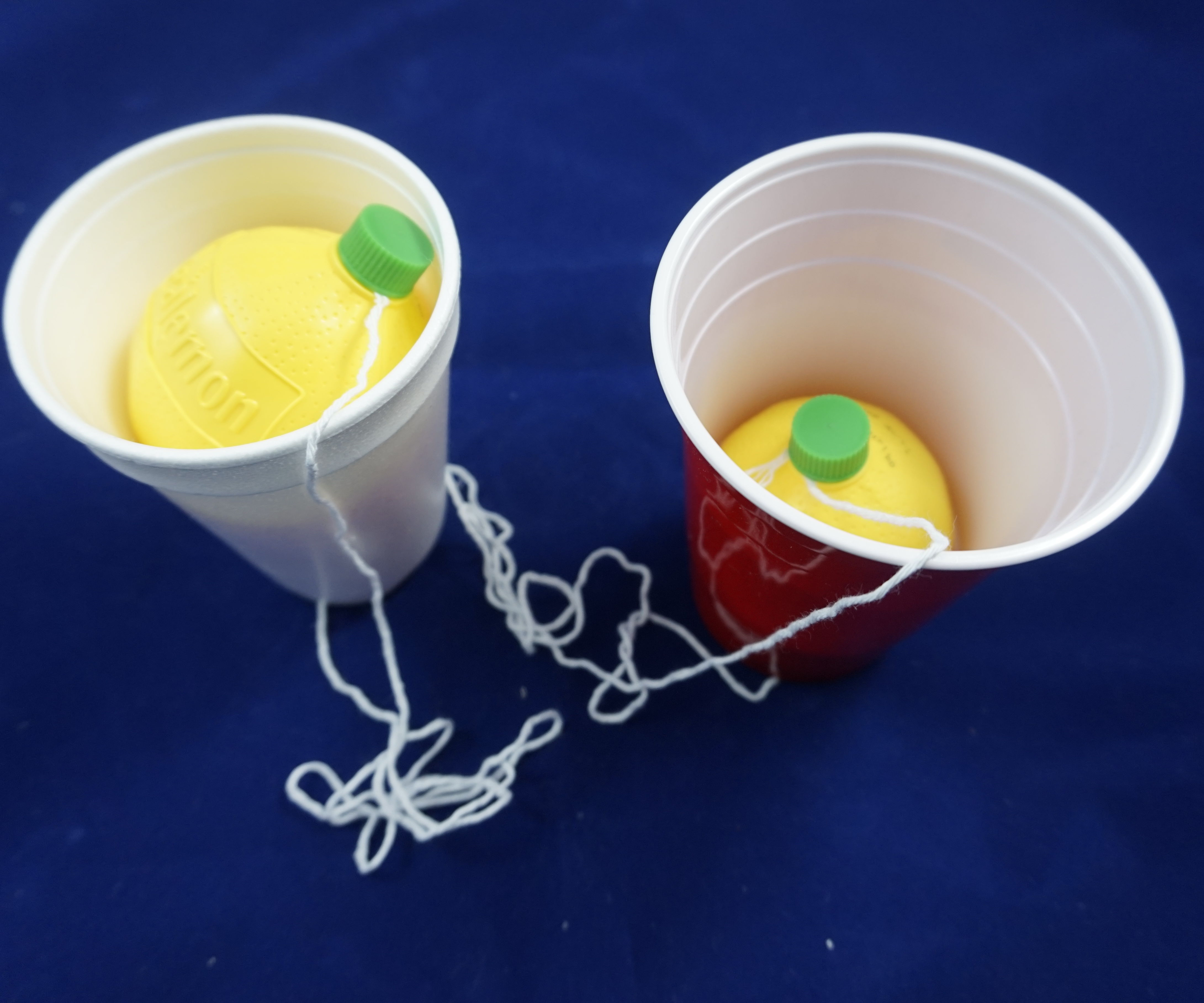 Recycled Cup and Ball Game