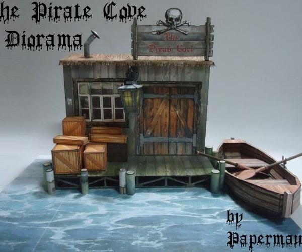 The Pirate Cove Diorama Paper Model