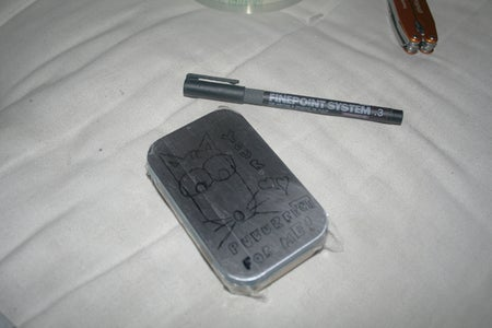 Masking the Tin and Draw Your Design
