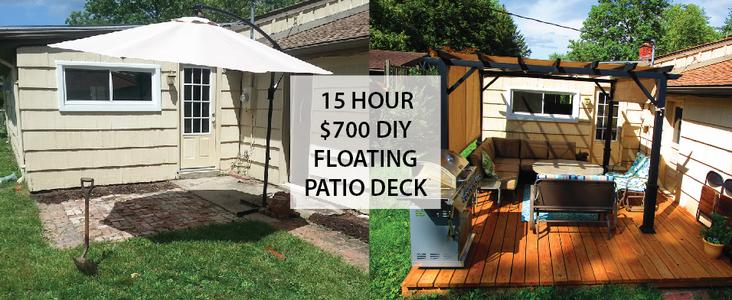 DIY Floating Deck