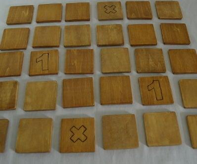 Handmade Non Toxic Wooden Memory Math Game