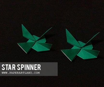 Action Origami - How to Make an Air Spinner