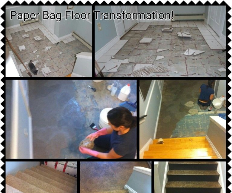 Paper Bag Flooring Instructions