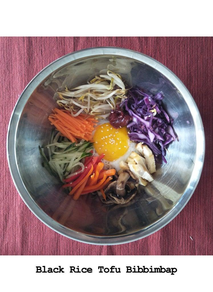 Recipe #1: Black Rice Tofu Bibbimbap (Korean Mixed Rice)