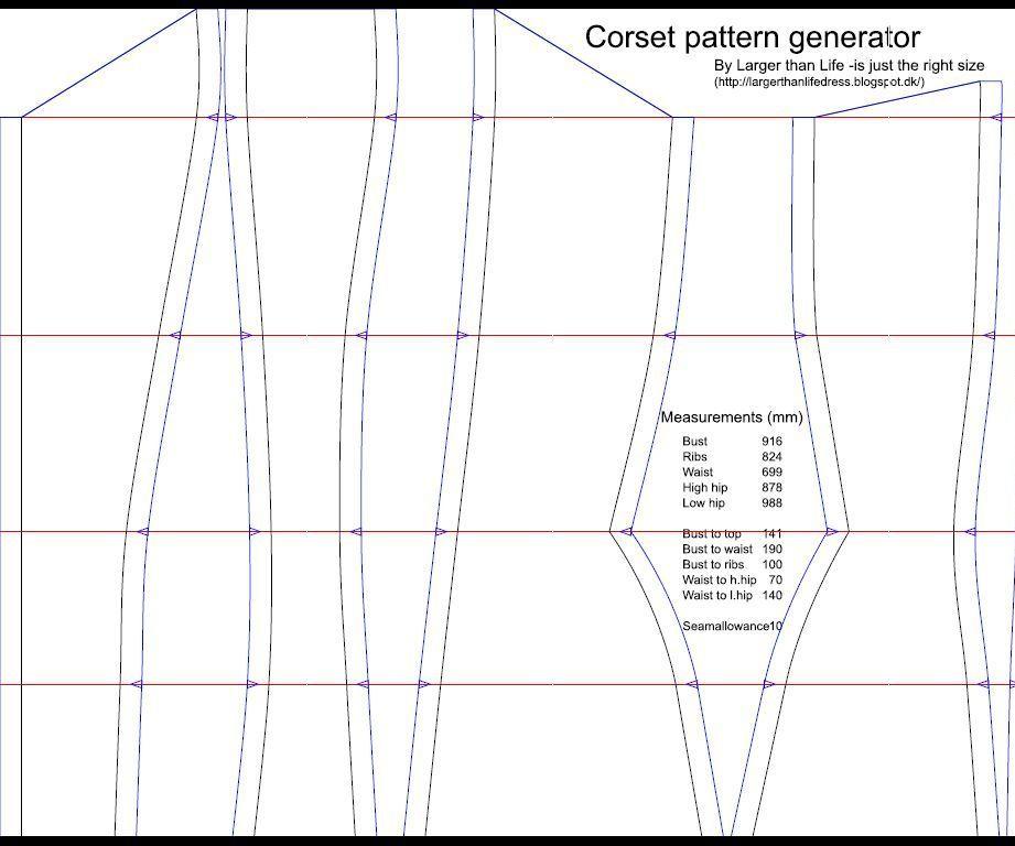 The corset pattern generator